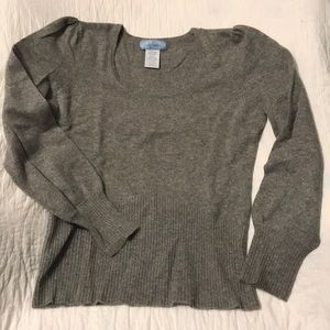 U-Knit Pure Cashmere Gray Sweater L
